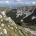 Unterwegs zwischen Cima di Vall'Organo und Sella di Leonessa - Ausblick beim zwischenzeitlichen Abstieg.