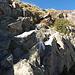 Die zweite Kletterstufe, deutlich leichter als die erste.