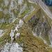 """Sicht vom Gipfel des """"Vanil Noir"""" zum zuvor überstiegenen Grat."""