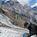 Weiter unten ist der Gletscher blank, so dass wir das Seil wegpacken können.