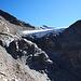 Der Rosimferner. Es geht zum linken Rand des Gletschers hoch, steiler als es hier aussieht