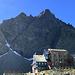 Rifugio Quintino Sella con dietro la cresta est del Monviso