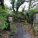 der Friedhof mit sehr alten Grabsteinen