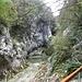 Der zweite Wasserfall Bacva befindet sich im schluchtartigen Talende. Hier ist kein Weiterkommen mehr, man muss den rechterhand liegenden Hang hinauf steigen.