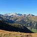 Blick nach Westen, links ist die Hornspitze, in der Mitte der Nafkopf und rechts der Augstenberg.