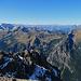 die Aussicht vom Fundelkopf hinüber zu den Bergen im Fürstentum Liechtenstein