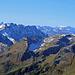 herrliche Aussicht über die Liechtensteinischen Berge hinweg bis weit hinein ins Glarnerland hinein.