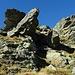 Kurz vorm Gipfel grad durch die Felsen hindurch, ist leichter als es hier aussieht.