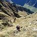 Dr. Steilgras genießt die Gipfelflanke.
