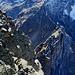 Tiefblick zur Dossenhütte und Urbachsattel