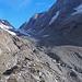 der schuttbedeckte Langgletscher: nur noch ein Schatten von ehedem