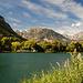 Der idyllische See bei La Roche-de-Rame, eine Umrundung dauert gerade mal eine Viertelstunde, schön zum Baden.