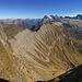 Panorama mit Gipfelbereich des Druesberges.