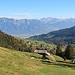 bereis beim Abstieg nach Wildhaus mit Blick ins Rheintal und nach Liechtenstein