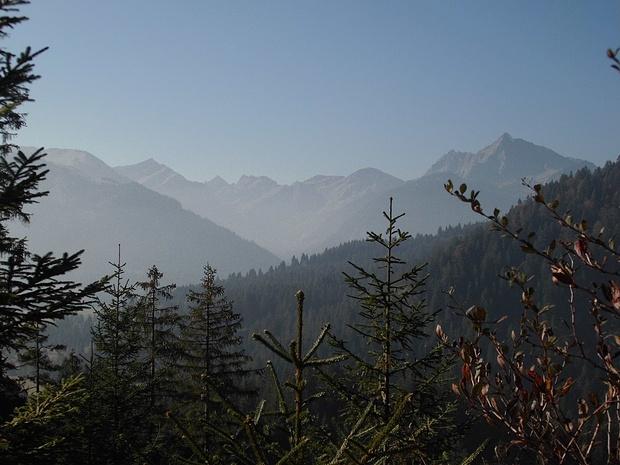 Blick beim Aufstieg zur Bad Kissinger Hütte