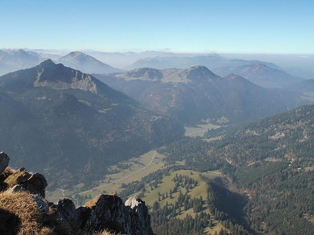 Blick vom Aggenstein in westliche Richtung