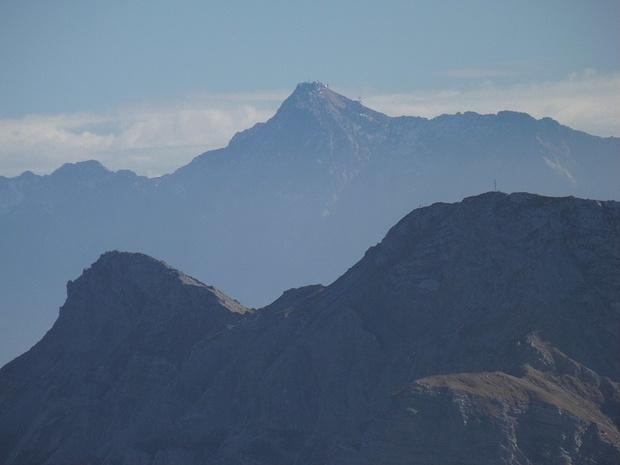 Zugspitze, Große Schlicke und Karretschrofen im Zoom