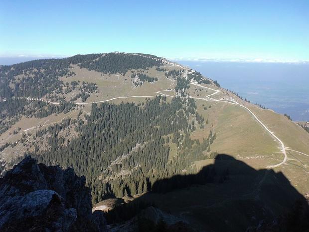 Blick vom Aggenstein zum Breitenberg