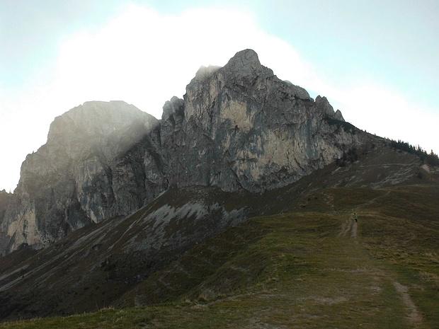 Rückblick zum Aggenstein nach Abstieg zum Breitenbergjoch