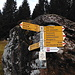 Signpost at Äugsten. I followed the wrw marked trail in direction Gufelstock.