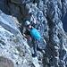 Klettern in der Südwand der Oberstdorfer Hammerspitze