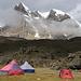 Unser Camp im oberen Queb.Huanacpatay