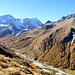 A Tsarmine, vue sur le haut du Val d'Arolla.