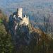 Die majestätische Ruine Neu Falkenstein.