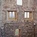 Fensterfront in der Ruine.
