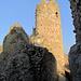 Der begehbare Turm der Ruine.