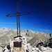 Gipfelkreuz an der Cime de la Vallette de Prals