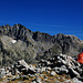 Gipfelpause im Angesicht vom Mont du Grand Capelet und Mont Bego.