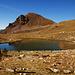 Schöne Landschaft mit Biwak.
