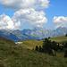 Dem Tagesgang entsprechend: die obligatorischen Wolken über dem Alpstein.