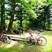 unsere beiden tollen Bikes ruhen ...