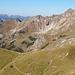 Rückblick vom Seekopf ins verschandelte Nebelhorngebiet.