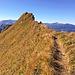 """Rückblick zum Hüttenkopf - der eher ein """"Zipfel"""" im Schattenberggrat ist, als ein echter Gipfel..."""