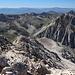 Im Aufstieg zur Vetta Orientale (Normalweg) - Blick über den West-Grat, über den auch eine mögliche Aufstiegsroute führt.
