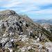 The summit ridge. We went up to the visible false summit.
