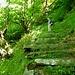 Andreas auf den kapitalen Treppen nach Cavalüm