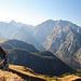 Blick vom Fagstein, Watzmann und Steinernes Meer