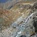 Wasserfälle kurz unterhalb des Gletschersees des Gauligletschers