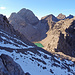 Traumhafter Blick über Altschneefelder zur Spiehlerscharte.
