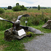 A propeller left from World War Two, today a memorial