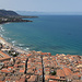 View over Cefalu, from the entrance to La Rocca