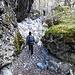 Durch das Flussbett gelangen wir zum letzten Aufschwung über dem Glencoe.