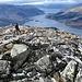 Schottische Steinwüste auf dem Gipfel.
