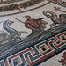 Vatikanischen Museen (Musei Vaticani) - Blick auf den Ausschnitt eines Fußbodenmosaiks, dass offenbar aus den Thermen von Otricoli/Umbrien stammt (Museo Pio-Clementino/Sala Rotonda).