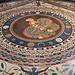 Vatikanischen Museen (Musei Vaticani) - Blick auf ein Fußbodenmosaik (Museo Pio Clementino/Sala a Croce Greca).