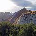 Blick vom Gipfel in den föhnigen Alpstein